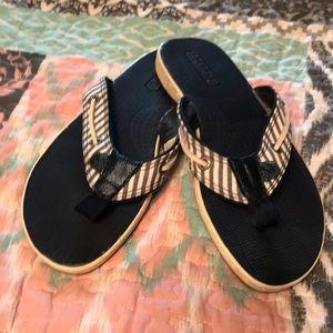 Sperry Striped Flip Flops - Size 6M
